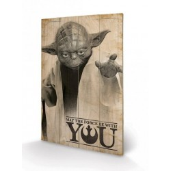 STAR WARS - Impression sur Bois 40X59 - Yoda May The Force Be With You 151649  Canvas