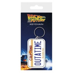 BACK TO THE FUTURE - Rubber Keychain - License Plate 151627  Sleutelhangers