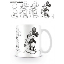 DISNEY - Beker - 300 ml - Mickey Mouse Sketch Process