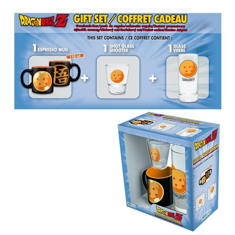 DRAGON BALL - Gift Box (Glas+ Shot glas + Mini-Beker)