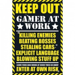 GAMERS - Poster 61X91 - Gaming Keep Out 151455  Posters