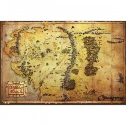 THE HOBBIT - Poster 61X91 - Map 151446  Posters