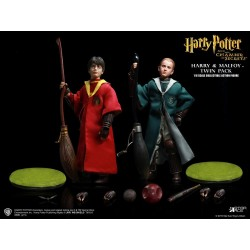 HARRY POTTER - Movie Figures 1/6 - Harry & Draco Quidditch Twinpack 151223  Harry Potter Figurines