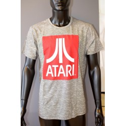 ATARI - T-Shirt Red Logo - Grey (M) 151115  T-Shirts Atari
