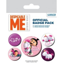 DESPICABLE ME - Pack 5 Badges - It's So Fluffy 169855  Badges