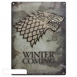 GAME OF THRONES - Metal Plate 28 X 38 - Stark 151028  Metalen Wand Borden