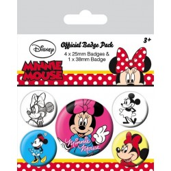 DISNEY - Pack 5 Badges - Minnie Mouse 169853  Badges