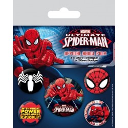 SPIDERMAN - Pack 5 Badges - Ultimate Spider-Man 169852  Badges