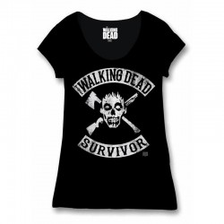 THE WALKING DEAD - T-Shirt Survivor - GIRL (L) 150067  T-Shirts Walking Dead