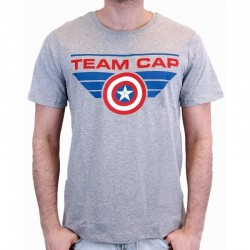 CIVIL WAR - T-Shirt TEAM CAP - Grey (S) 150028  T-Shirts Civil War