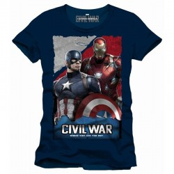 CIVIL WAR - T-Shirt Whose Side Are You On - Navy (XL) 150011  T-Shirts Civil War