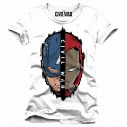 CIVIL WAR - T-Shirt Cap/Iron (XL) 150006  T-Shirts Civil War
