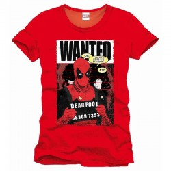 DEADPOOL - MARVEL T-Shirt Wanted - Red (S) 149518  T-Shirts Deadpool