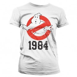 GHOSTBUSTERS - T-Shirt 1984 GIRLY - White (S) 149342  T-Shirts Vrouwen