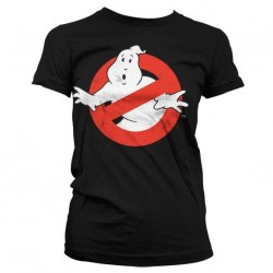 GHOSTBUSTERS - T-Shirt Distressed Logo - GIRLY Black (L) 149338  T-Shirts Vrouwen