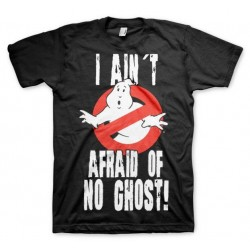GHOSTBUSTERS - T-Shirt I Ain't Afraid of No Ghost - Black (S) 149326  T-Shirts Ghostbusters