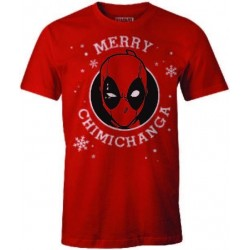 CHRISTMAS - T-Shirt Deadpool Merry Chimichanga (L)
