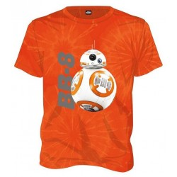 STAR WARS - T-Shirt Tie Dye BB-8 - Orange (XXL) 149205  T-Shirts Star Wars