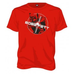STAR WARS - T-Shirt Boba Fett Bounty Hunter - rood (L)