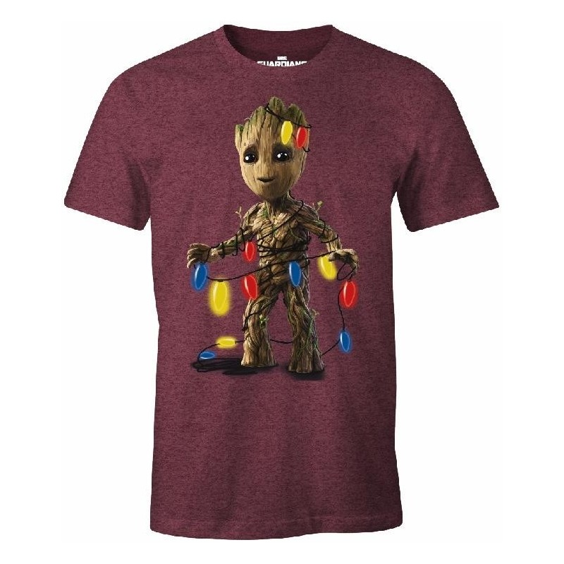 CHRISTMAS - T-Shirt Groot with Light (S) 169731  T-Shirts
