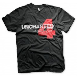 UNCHARTED 4 - T-Shirt Distressed Logo - Black (S) 148961  T-Shirts Uncharted