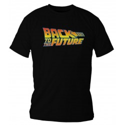 BACK TO THE FUTURE - T-Shirt - Logo - zwart (XL)