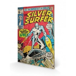 MARVEL - Printing on wood 40X59 - Silver Surfer Must Live 148248  Houten borden