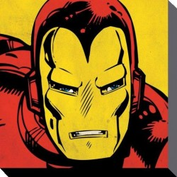 MARVEL COMICS - Canvas 40X40 '38mm' - IRON MAN Close-Up 148231  Frames