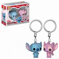 Pocket Pop Keychains : Disney - Stitch & Angel (2-pack)