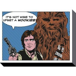 STAR WARS - Canvas 60X80 '18mm' - Its not Wise to Upset a Wookiee 147844  Ingelijst