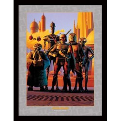 STAR WARS - Collector Print HQ 32X42 - Bounty Hunters 147826  Collector Print Canvas