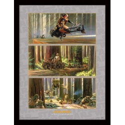 STAR WARS - Collector Print HQ 32X42 - Action on Endor's Moon 147822  Posters