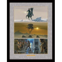 STAR WARS - Collector Print HQ 32X42 - Rebel Base on Hoth 147813  Collector Print Canvas