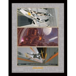STAR WARS - Collector Print HQ 32X42 - X-Wing Assault