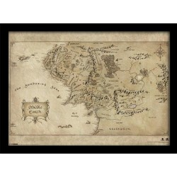 THE HOBBIT - Collector Print HQ 32X42 - Middle Earth Map 147803  Collector Print Canvas