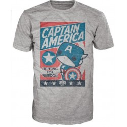 CAPTAIN AMERICA - T-Shirt POP - Fighting for Freedom (XXL) 147594  T-Shirts Captain America
