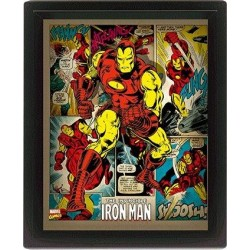 MARVEL RETRO - 3D Lenticular Poster 26X20 - Iron Man
