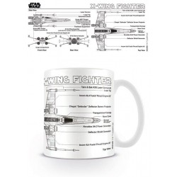 STAR WARS - Mug - 300 ml - X-Wing Fighter Sketch