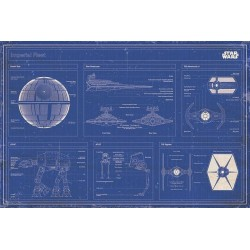 STAR WARS - Poster 61X91 - Blueprint Imperial Fleet 146753  Star Wars