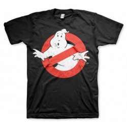 GHOSTBUSTERS - T-Shirt Distressed Logo - Black (XL) 146539  T-Shirts Ghostbusters