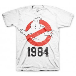 GHOSTBUSTERS - T-Shirt 1984 - White (S) 146527  T-Shirts Ghostbusters