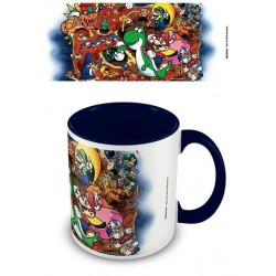 NINTENDO - Coloured Inner Mug - Super Mario World Blue 169537  Drinkbekers - Mugs