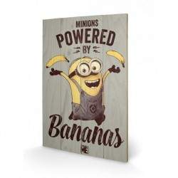 MINIONS - Printing on wood 40X59 - Powered By Bananas 146423  Houten borden