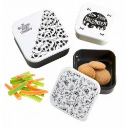NIGHTMARE BEFORE CHRISTMAS : Plastic Storage Set Our Town of Halloween 171486  Opberg Boxen