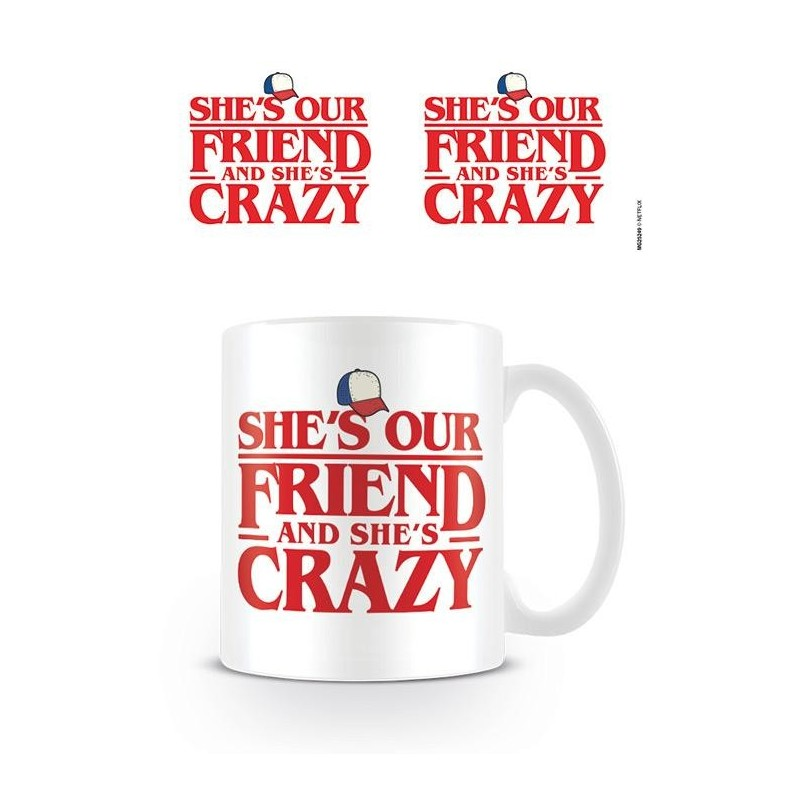 STRANGER THINGS - Mug - 315 ml - Shes Our Friend 169512  Drinkbekers - Mugs
