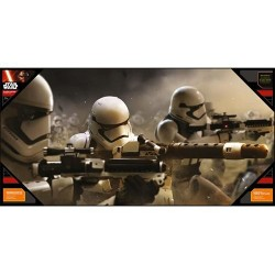 STAR WARS 7 - GLASS POSTER - Stormtroopers Battle - 50X25 cm