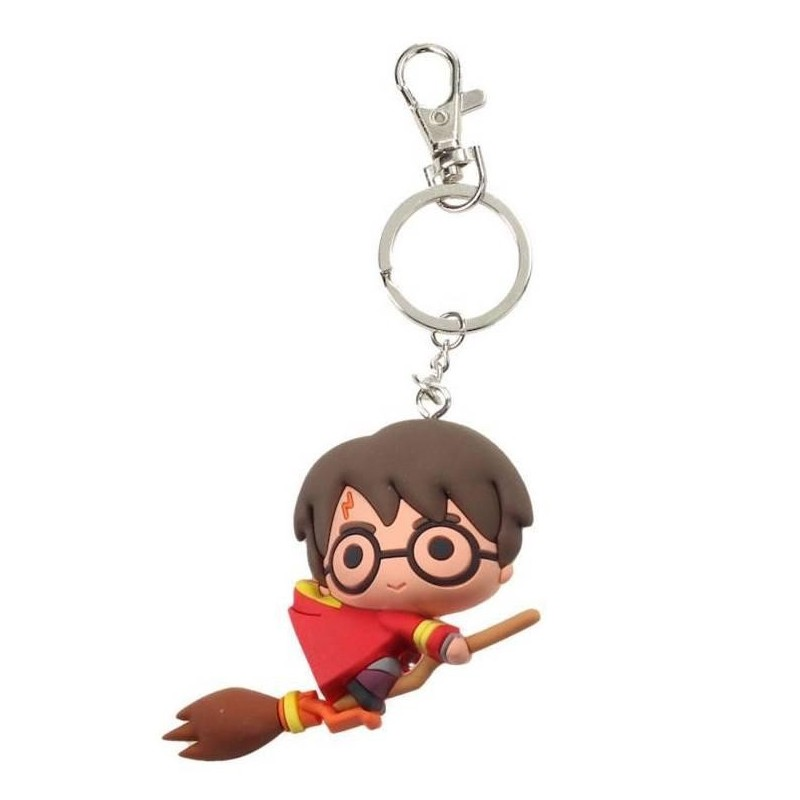 HARRY POTTER - Rubber Figure Keychain - Harry Potter Quidditch 169475  Harry Potter