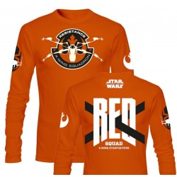 STAR WARS 7 - T-Shirt Red Squad Long Sleeve - Orange (XXL) 145238  Long Sleeve T-Shirts