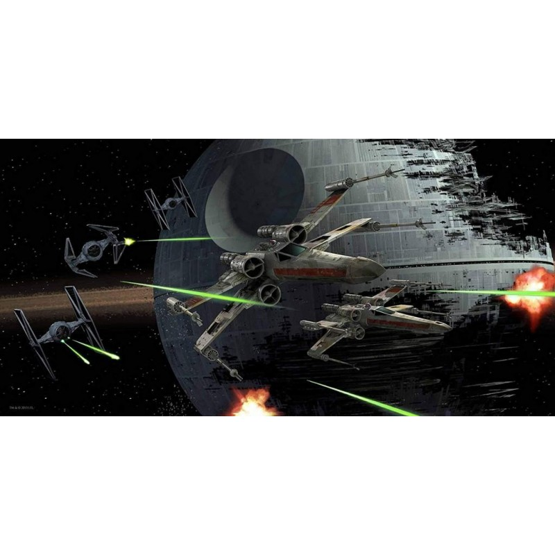 STAR WARS - GLASS PRINT - Tie-Fighter Vs X-Wing - 60X30 cm 171477  Glas Canvas