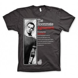 THE BIG BANG THEORY - T-Shirt The Roommate Agreement - Grey (XXL) 143843  T-Shirts